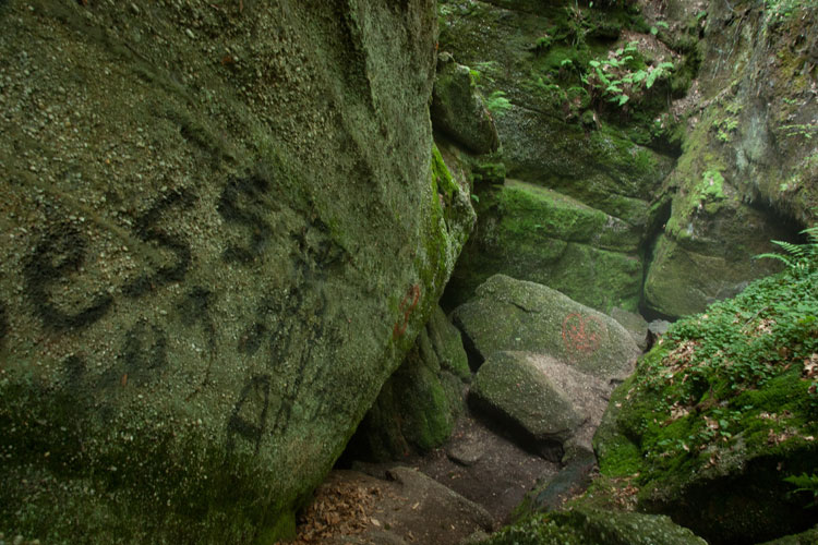 rocks at Nelson Ledges